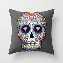 Candy Skull Throw Pillow