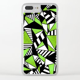 Geometric Green Clear iPhone Case
