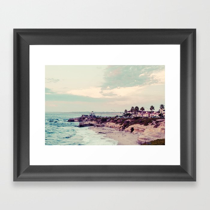 San Diego Beach Fine Art Print Gerahmter Kunstdruck