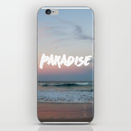 Paradise on the beach iPhone Skin