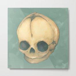 Foetus Skull Metal Print