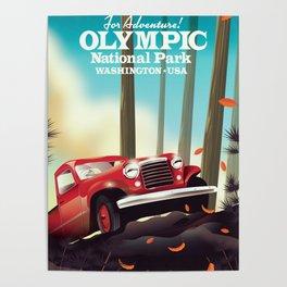 Olympic National Park, Washington USA Poster