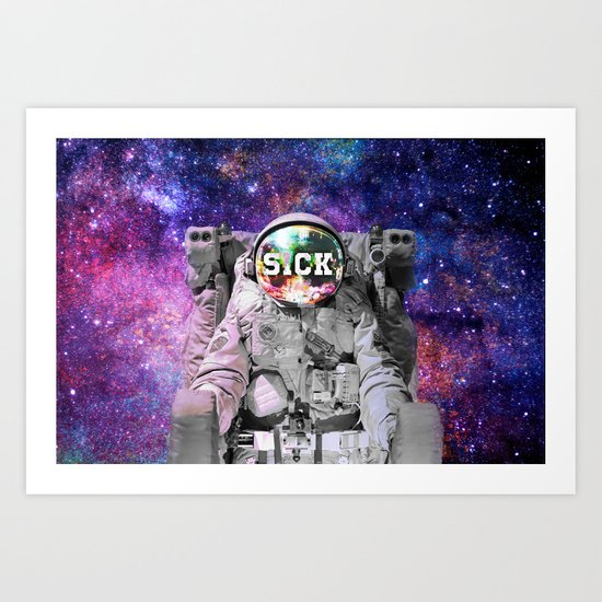 Exploring Space Beauty Art Print