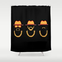 old school Shower Curtains featuring Old School by Rossfett