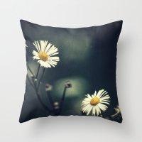 daisy Throw Pillows featuring Daisy by Pascal Deckarm Fine Art