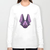 bat Long Sleeve T-shirts featuring Bat! by FOUR SECOND MEMORY