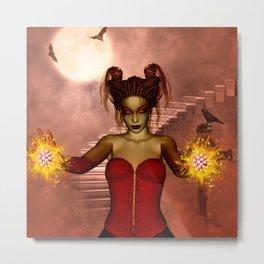 The dark fairy in the night Metal Print
