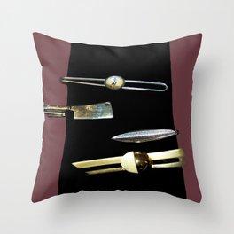 Black Tie Throw Pillow