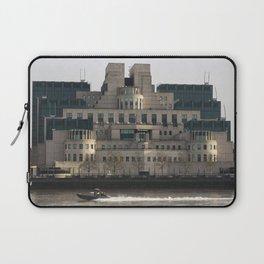 SIS Secret Service Building London And Rib Boat Laptop Sleeve