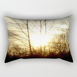Silhouette of Trees  Rectangular Pillow