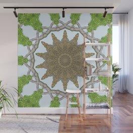 Bark Leaves Stone Kaleidoscope Art 2 Wall Mural
