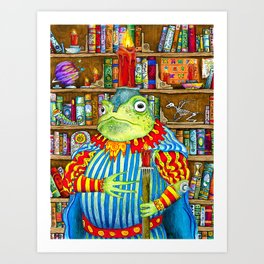 Rozologue Bagumphious, Librarian-King of the Candletoads Art Print