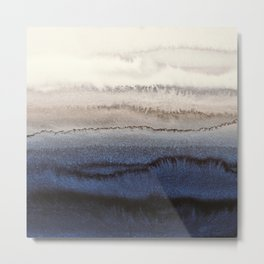 WITHIN THE TIDES WINTER BLUES by Monika Strigel Metal Print
