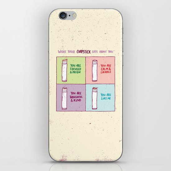 What Your Chapstick Says About You iPhone & iPod Skin