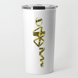 Telephone - Caution Tape Outfit Minimal Sticker Travel Mug