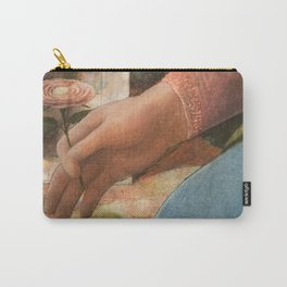 Madonna's flower (detail of the painting by Fra Filippo Lippi) Carry-All Pouch
