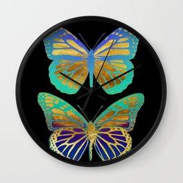 Pop Art Butterflies Wall Clock