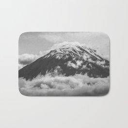 Volcano Misti in Arequipa Peru Covered by Clouds Bath Mat