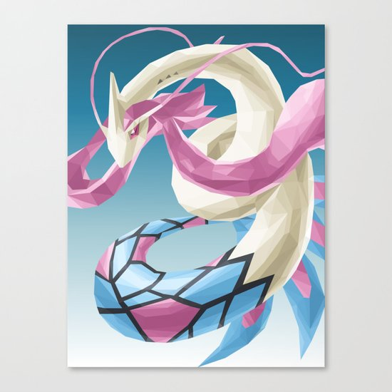 Pocket monster - Milotic the Water Snake Canvas Print