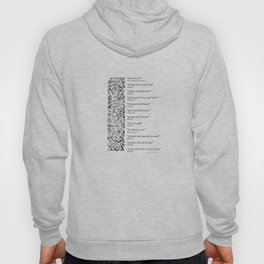 Words Words Words - William Shakespeare Quotations print Hoody