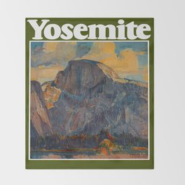 Vintage Yosemite National Park Throw Blanket