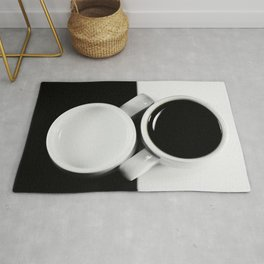 #Yin & #Yang, #coffee and #milk in #Cups #homedecors Rug