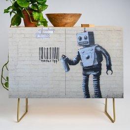 Banksy Robot (Coney Island, NYC) Credenza