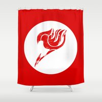 fairy tail Shower Curtains featuring Fairy Tail Segmented Logo circle by JoshBeck
