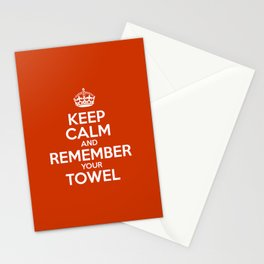 Keep Calm and Remember your Towel Stationery Cards