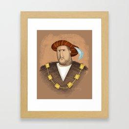 Henry & His Wives Framed Art Print