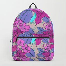 Pink Lilies and Orchids Backpack