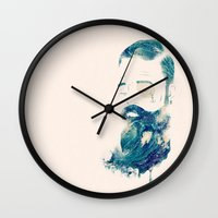 storm Wall Clocks featuring Storm by Seaside Spirit