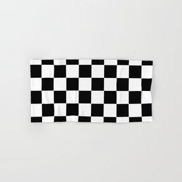 Checker Cross Squares Black & White Hand & Bath Towel