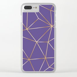ultra violet gold polygon Clear iPhone Case