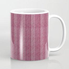 """""""Pink Vertical Lines Wool Texture"""" Coffee Mug"""