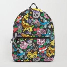 Tattoo Cats,Roses,Strawberry,Skulls Backpack