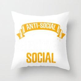 Sarcastic I'm not anti-Social Throw Pillow
