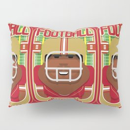 American Football Red and Gold - Enzone Puntfumbler - Hayes version Pillow Sham