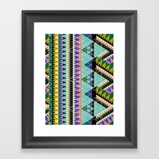 RETRiangles. Framed Art Print