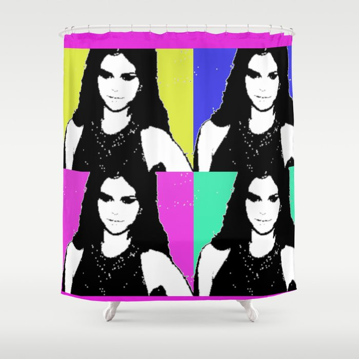 Ms. Gomez pop art print Shower Curtain