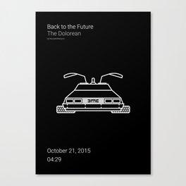 The Dolorean BTTF Canvas Print