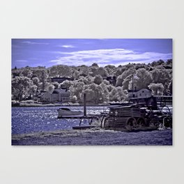 Afternoon Sun at Mystic Seaport Canvas Print