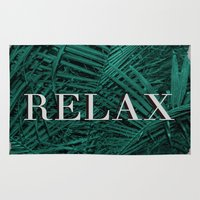 relax Area & Throw Rugs featuring RELAX by sincerelykarissa