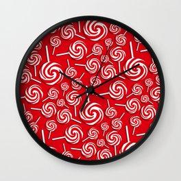 Candy Swirls-Large Wall Clock