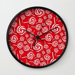 Candy Swirls-Large Wall Clock