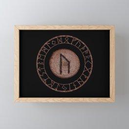 Uruz Elder Futhark Rune determination, persistence, freedom, courage, will, territoriality Framed Mini Art Print