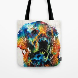 Colorful Dog Art - Heart And Soul - By Sharon Cummings Tote Bag