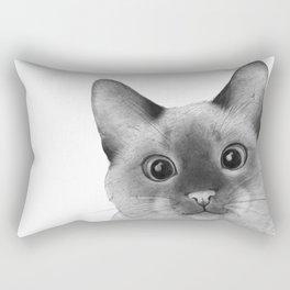 Siamese sneak-a-peek Rectangular Pillow