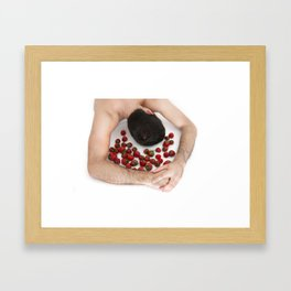 Strawberries Angel (Nude Food) Framed Art Print