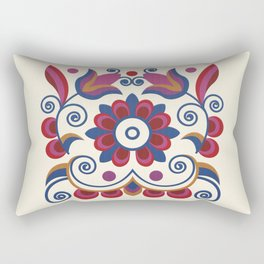 Grace Embroidered Flowers II Rectangular Pillow